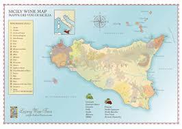 Map Of Italy Wine Regions by Sicily Wine Region Map Cellartours