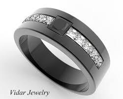 mens princess cut diamonds wedding ring vidar jewelry unique s princess cut black black gold wedding band vidar