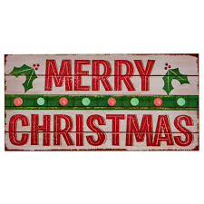 battery operated led merry sign 40cm light up