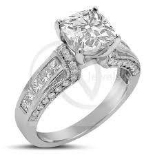 Jared Cushion Cut Engagement Rings Antique Cushion Cut Diamond Engagement Ring Wrap Around Diamonds C49