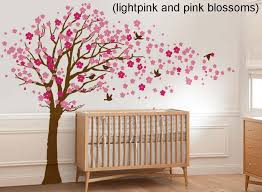 cherry blossom tree with birds wall decal wall sticker leafy