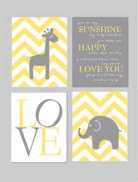 Gray And Yellow Nursery Decor Yellow And Gray Nursery You Are My Elephant Giraffe