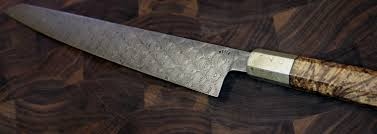 damascus steel knives illustrated 300mm sujihiki in bubble wrap double carbon with mokume ferule