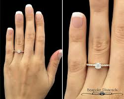 solitaire stone rings images Pr1047 rose gold side stone diamond ring jpg