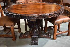 Rustic Dining Table Catalog Mesquite Tables Rustic Round Table - Wood dining room table