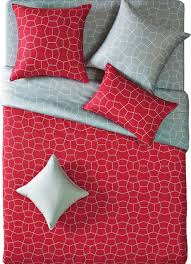 Duvet Covers King Contemporary Reversible Modern Red And Gray Duvet Cover Set Contemporary