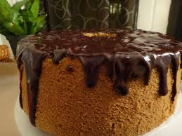 espresso coffee chiffon cake with chocolate glaze u2013 foodie joanie
