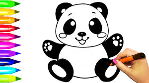 baby panda coloring pages learn colors for kids coloring book