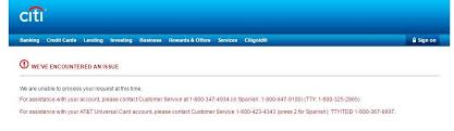 At T Universal Business Card Citi U0027s Website Is Broken Today Churning