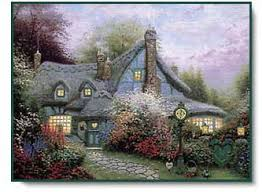 kinkade sweetheart cottage centered