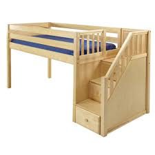 Plans To Build A Bunk Bed With Stairs by Download Loft Bed With Stairs Plans Zijiapin