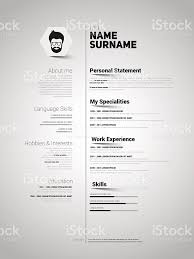 free minimalist resume designs minimalist cv resume template with simple design vector stock