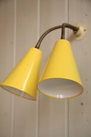 Yellow Wall Sconce 1950s Wall Light And Chrome