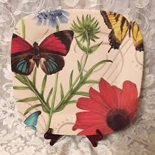 butterfly serving platter square floral and butterfly serving tray platter 14 melamine home
