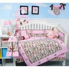 baby bedding camo baby crib nursery bedding set 13 pcs pink
