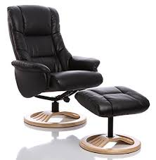 Cheap Swivel Armchairs Uk The Mandalay Bonded Leather Recliner Swivel Chair In Black Amazon