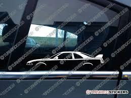 nissan jdm cars 2x jdm car silhouette sticker nissan skyline r33 gtr