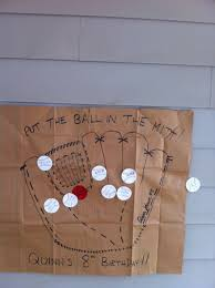 put the ball in the mitt a fun take on pin the tail on the donkey