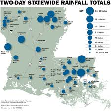 Louisiana Map Of Parishes by Rescues In South Louisiana After Torrential Rains Flood Several