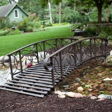 coral coast willow creek 8 ft metal garden bridge hayneedle