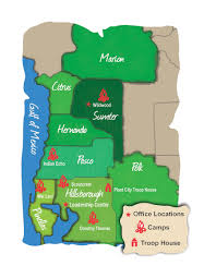 Plant City Florida Map by Our Camps Scouts Of West Central Florida