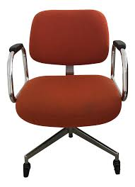 mid century modern red office chair by harter furniture company