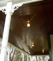 Beadboard Porch Ceiling by True Beadboard Porch Ceiling Over Stained Concrete Www