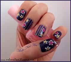 make nail art easy flower nail design for spring nail art tutorial