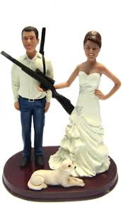 and groom cake toppers custom and camo groom w shotguns cake topper style 4