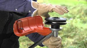 how to attach the stihl polycut c 20 3 cutting head youtube