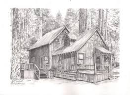 log cabin drawings cabin beautiful image drawing drawing skill