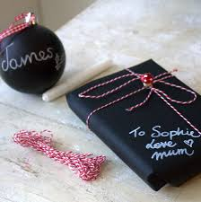 chalkboard wrapping paper wrapping paper twine and pen