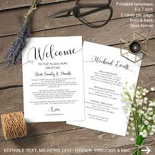 Wedding Itinerary Wedding Welcome Bag Note Welcome Bag Letter Wedding Itinerary