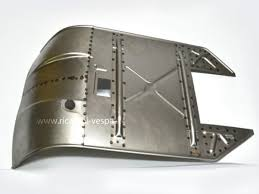 pedana vespa special plain footpeg with welded curved cuppini