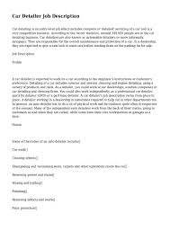 Automotive Service Manager Job Description Resume Auto Detailer Job Description Cms Templates Wordpress Templates