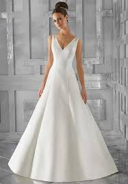 a line wedding dress v neck wedding dresses