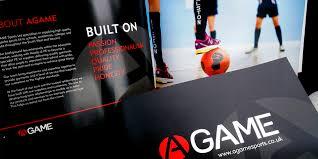 agame sports brochures cornwall creative