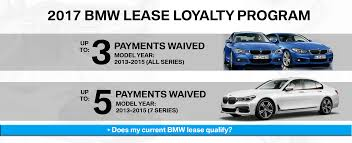 bmw lease programs 2017 bmw lease loyalty program