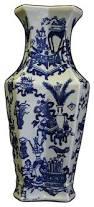 Chinese Blue And White Vase Chinese Blue White Porcelain Rhomboid Flower Vase Vase Asian