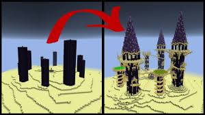 minecraft halloween city how to make a minecraft obsidian pillar end city youtube