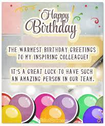glorious birthday greetings card for my wonderful employee