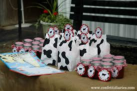 Barn Animal Party Supplies Barnyard Party Cow Print Treat Bags And Favor Ideas Katarina U0027s