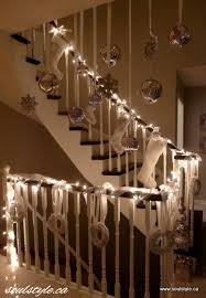 Banister Decor Christmas Banister At Night A Canadian Blogger Christmas