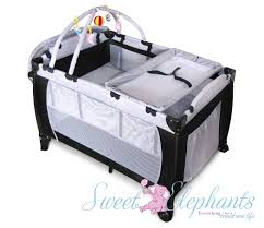 Playpen Bassinet Changing Table New 7 In 1 Baby Portable Travel Cot Bassinet Playpen Playpen