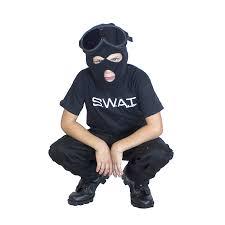Swat Team Halloween Costume Loves Man Uniform Dress
