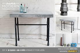 homemade modern ep40 concrete iron side table