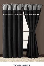 Black Curtains For Bedroom Black U0026 Red Milione Fiori Curtain Panel Set Of Two House And