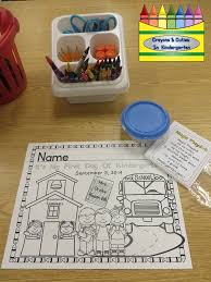 crayons u0026 cuties in kindergarten first day of coloring page