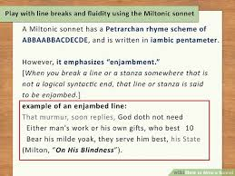On His Blindness Questions And Answers How To Write A Sonnet With 2 Sample Poems Wikihow