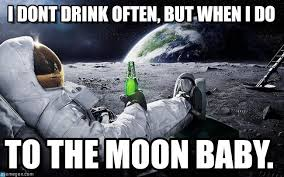 Moon Moon Meme - chillin with the man in the moon astronauta meme on memegen